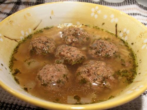 Meatball Orzo Soup